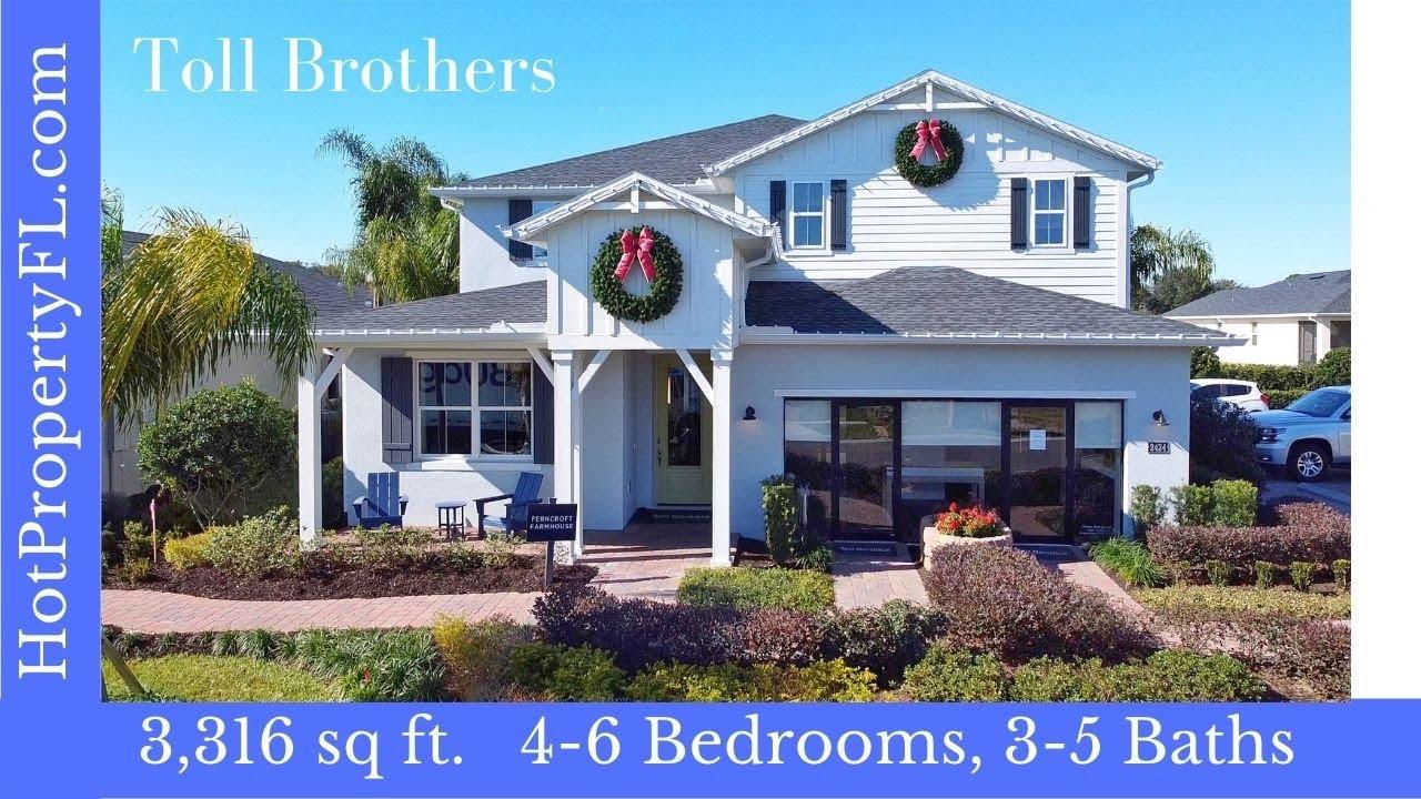 Toll Brothers Model Home Tour | Apopka / Orlando, FL | Ferncroft Model 3,316 sq ft | $402,995 base*