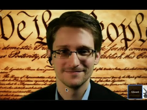Snowden's first live: 'Constitution being violated on massiv
