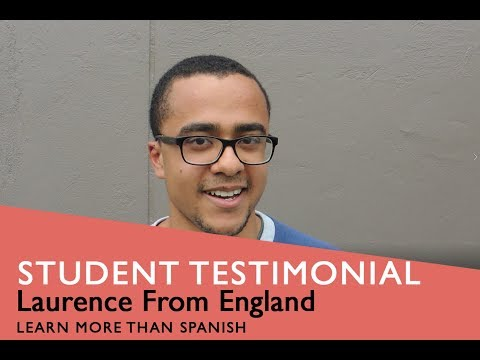 General Spanish Course Student Testimonial by Laurence from England