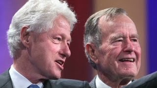 George H.W. Bush describes Clinton as 'de man!'