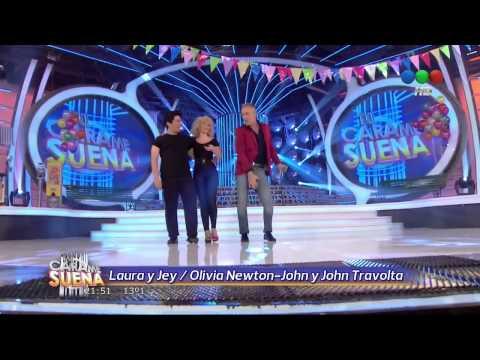 Laura Esquivel y Jey Mammon son Olivia Newton John y John Travolta - Tu Cara Me Suena 2 (Gala 2)