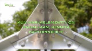 Vitavia-kasvihuone: katon kokoaminen