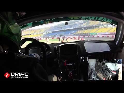 Drift Masters Grand Prix 2014 Toruń - Paweł Trela vs Krzysztof Romanowski - onboard trening