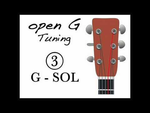 Open G tuning - Afinación Abierta de Sol
