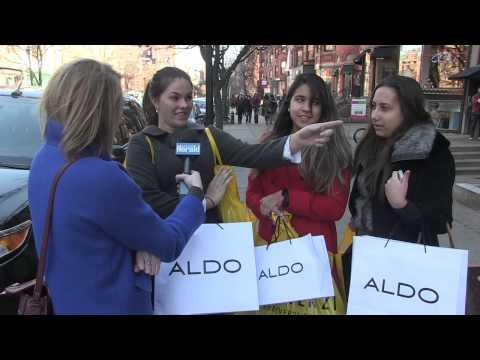 Shoppers Enjoy Newbury Street Black Friday Deals