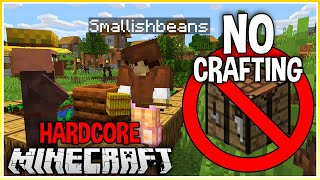 Beating Hardcore Minecraft WITHOUT a crafting table!