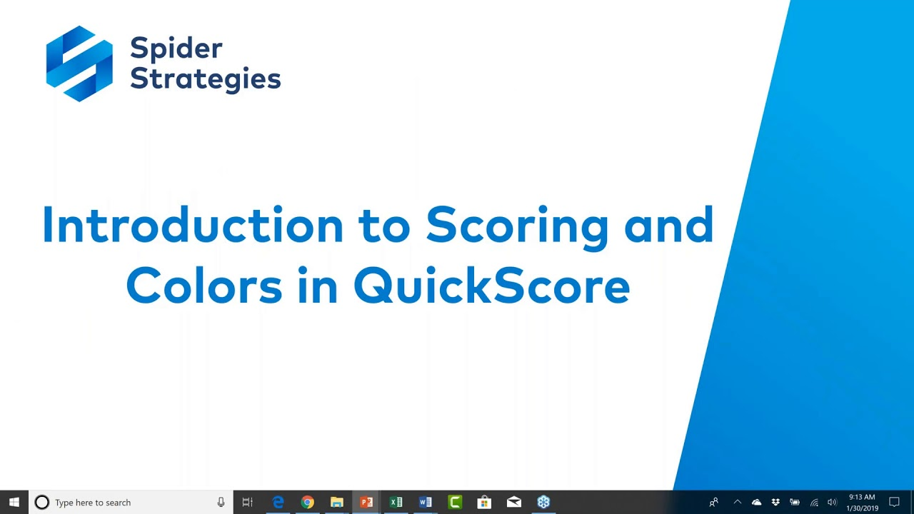 Introduction to Scores and Colors in QuickScore