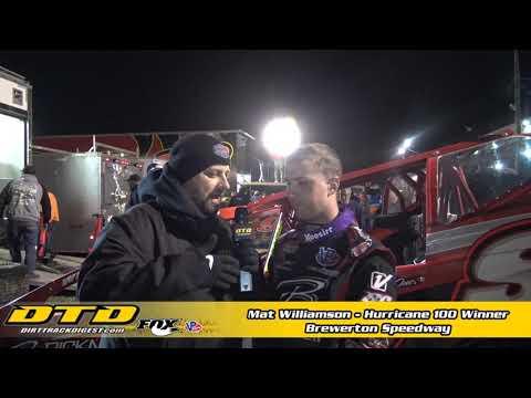 Mat Williamson Wins Hurricane 100 at the Brewerton Speedway