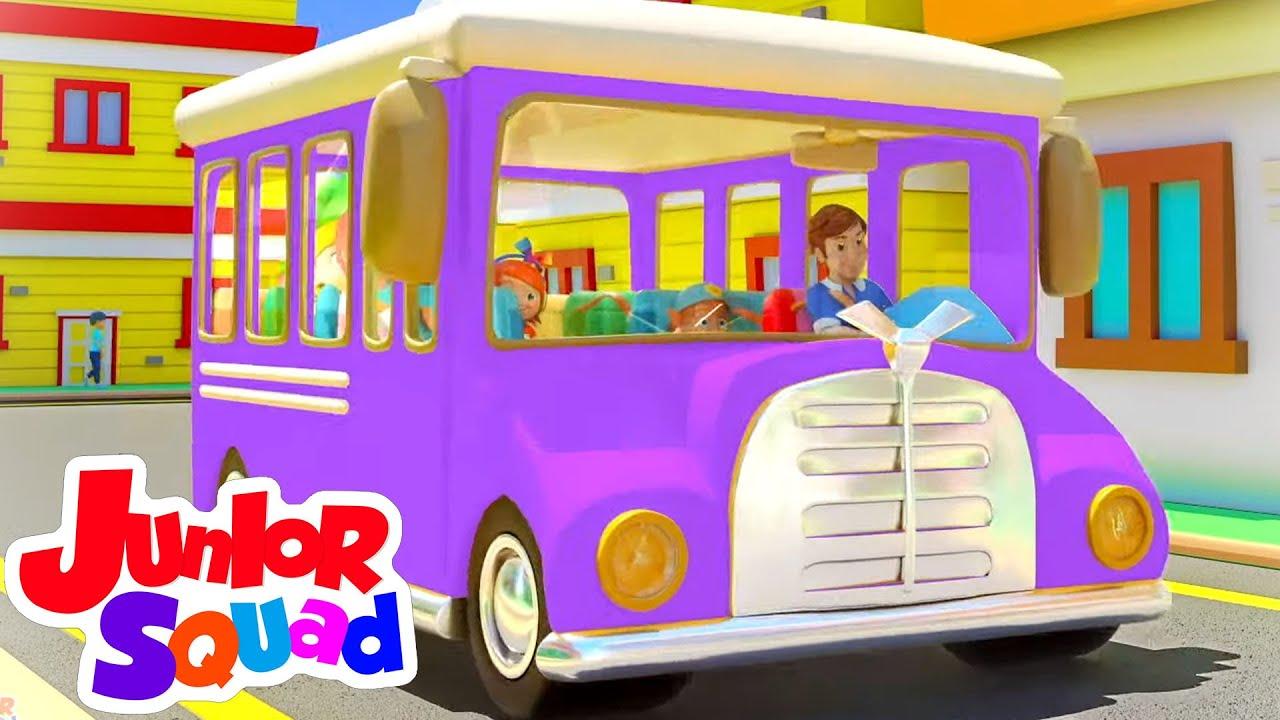 Roda di bus | Lagu anak anak | Bayi sajak | Junior Squad Indonesia | Kartun untuk anak