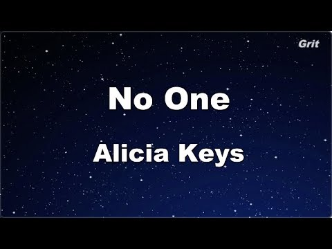 No One - Alicia Keys Karaoke【Guide Melody】