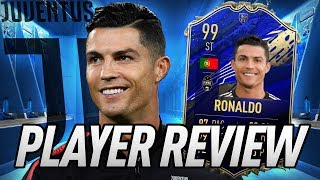 CR7 IS BACK! 99 TOTY CRISTIANO RONALDO PLAYER REVIEW! - FIFA 20 Ultimate Team