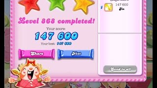 Candy Crush Saga Level 868     ★★★   NO BOOSTER