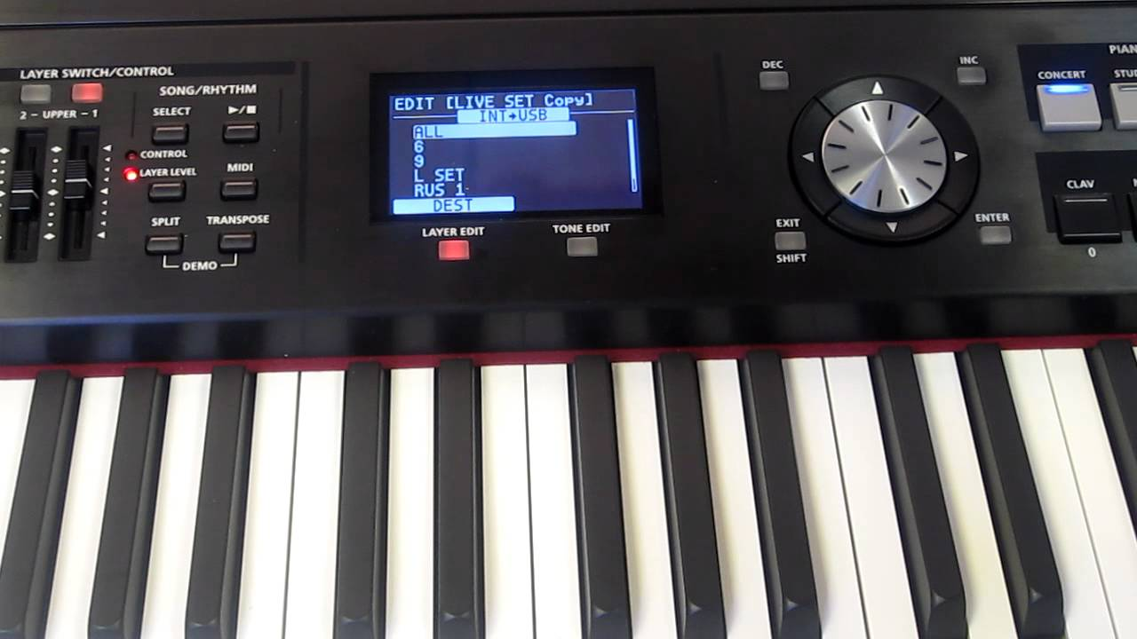 rd 700nx backing up user settings youtube rh youtube com Roland RD- 700 roland rd-700nx review keyboard magazine