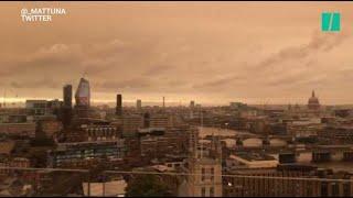 Avec l'ouragan Ophelia, un incroyable ciel orangé enveloppe Londres