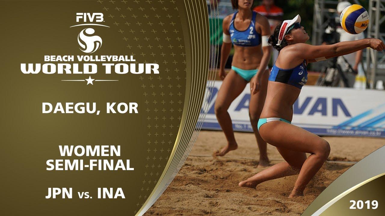 Women's Semi-Final: JPN vs. INA | 1* Daegu (KOR) - 2019 FIVB Beach Volleyball World Tour