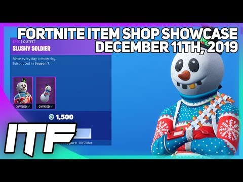 Fortnite Item Shop *RARE* SLUSHY SOLDIER IS BACK! [December 11th, 2019] (Fortnite Battle Royale)