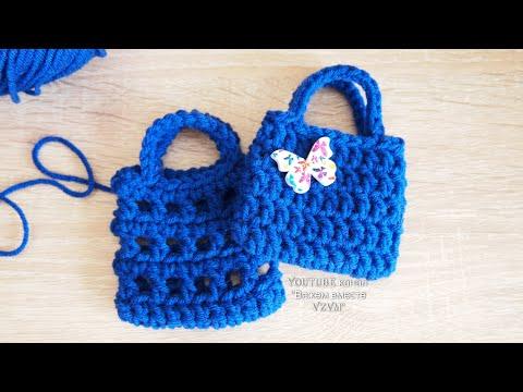 Простая сумка крючком. Как связать сумку крючком быстро и просто. Вязание авоськи.  Урок 183