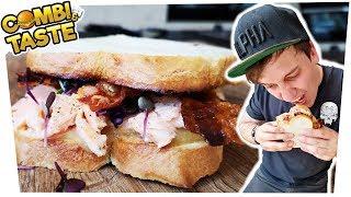 Pulled Lachs-Sandwich mit Wasabi-Apfelmus! Geht nicht? Geht doch! 🐟🥓🥪 Combi & Taste #CaT