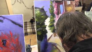 Видеоурок Переулок в зелени, Художник Игорь Сахаров, научиться рисовать, уроки рисования