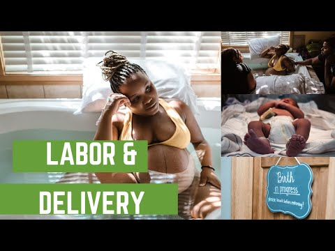 My Labor and delivery Video | Labor vlog | Jania Symone'