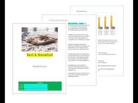 Bed & Breakfast business plan pages