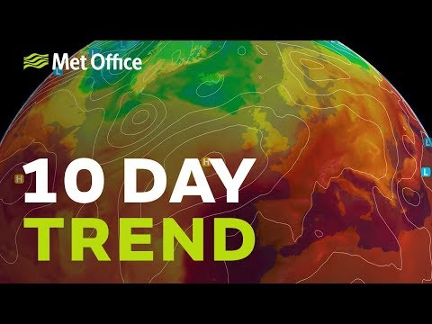 10 Day trend - drier and warmer, but for how long? 01/08/18