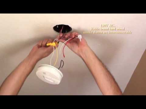 kidde smoke alarm wiring diagram 2 pole relay install carbon monoxide and combination installation video hardwire youtube