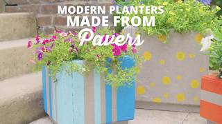 DIY Concrete Planters Made From Pavers - DIY Network