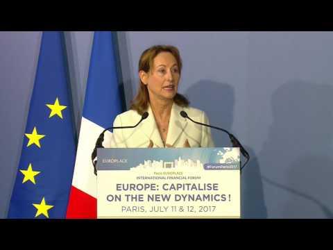 Introduction by Ségolène Royal - 24th Paris EUROPLACE International Financial Forum