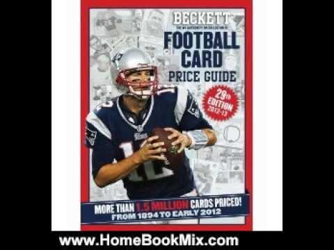 Home Book Review: Beckett Football Card Price Guide by James, III Beckett, Dan Hitt, Beckett Foot...