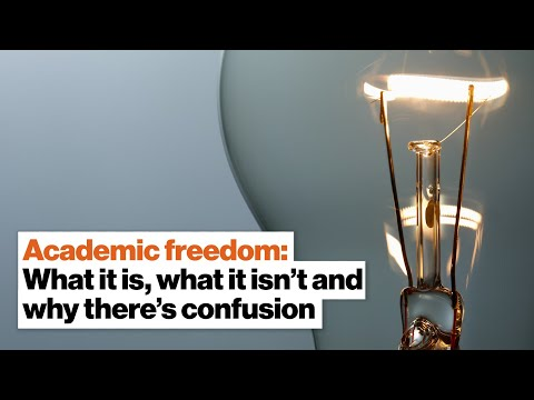 Academic freedom: What it is, what it isn't and why there's confusion | Robert Quinn