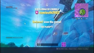 Fortnite New Sword 13 kill second place (Get rid of jetpacks and balloons)