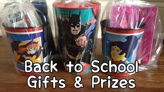 Fun Back to School Gift & School Prizes Haul (Walmart & Dollar Tree)