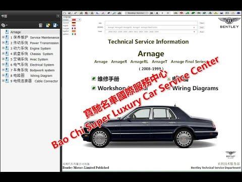 [DIAGRAM_38DE]  Bentley Arnage Workshop Repair Manual .Wiring Diagram .Technical Manual .  Owners Manual - YouTube | 2005 Bentley Arnage Wiring Diagram |  | YouTube