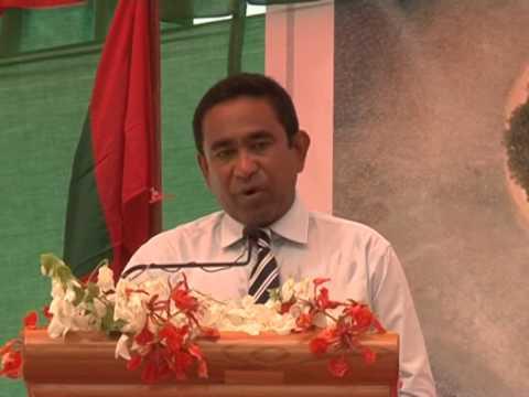 President inagurates land reclamation project of B.Eydhafushi