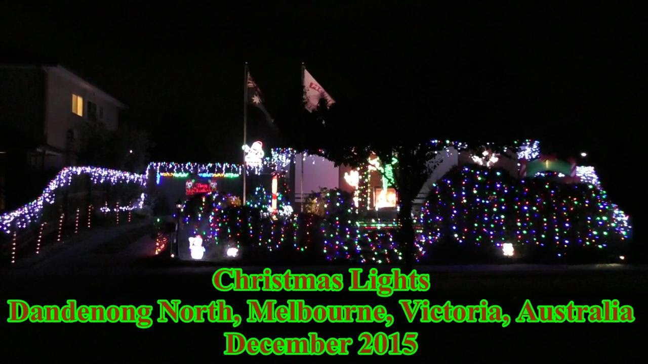 Christmas Lights Dandenong North Melbourne Victoria Australia December 2015