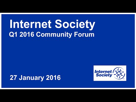 ISOC Q1 Community Forum 2016