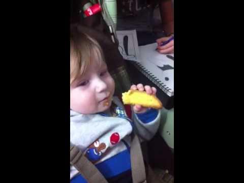 Rob eats anisette toast
