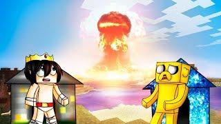 MINECRAFT: RETO DE LA BASE DE BEDROCK Vs BOMBA NUCLEAR 😱💥 ¿SOBREVIVIREMOS A LA MAYOR EXPLOSIÓN?