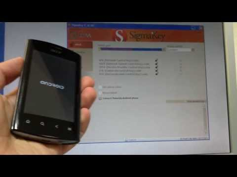 Unlock Acer Liquid MT S120 / Liquid Metal with Sigma