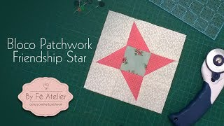 PATCHWORK – Mini Bloco – Friendship Star – By Fê Atelier