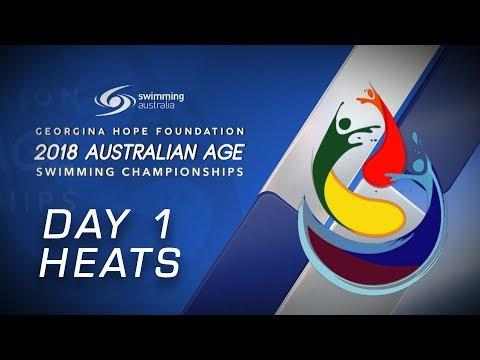 DAY 1 HEATS - 2018 Australian Age Championships