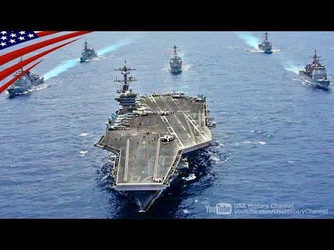 カールビンソン空母打撃群と海上自衛隊の護衛艦が朝鮮半島へ向け北上中に合同訓練