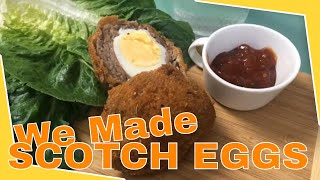 Daily Vlog 3 How To Make Scotch Eggs for the first time.