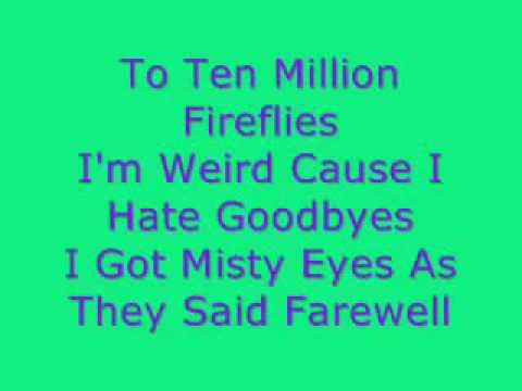 Owl City - Fireflies lyrics video - YouTube