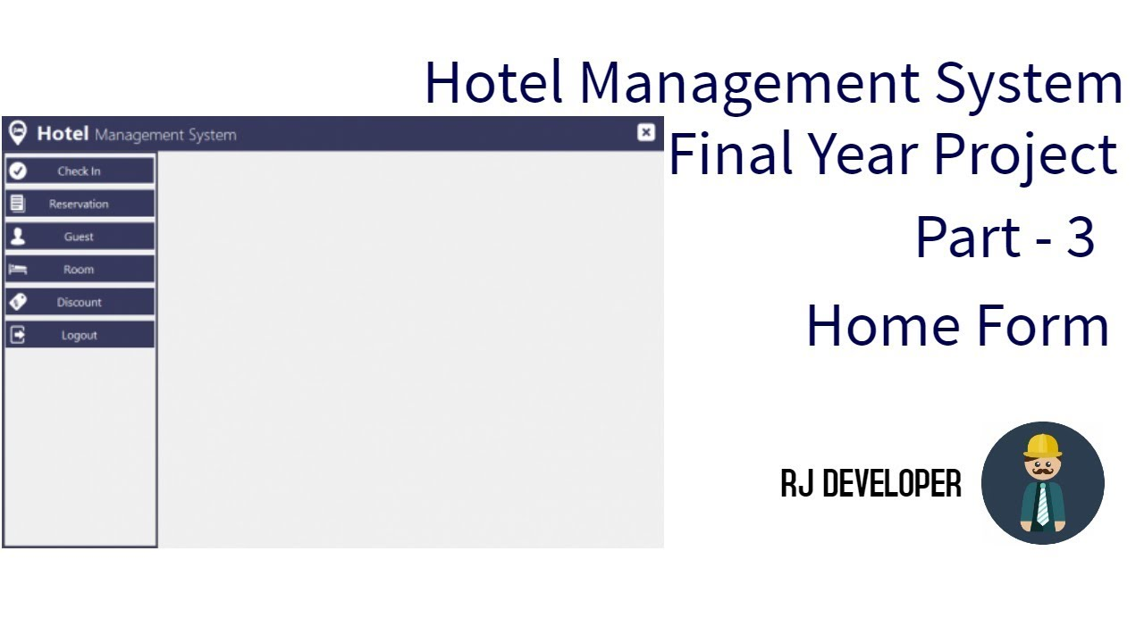 Hotel Management System   Final Year Project   Flat Design UI - Part 3