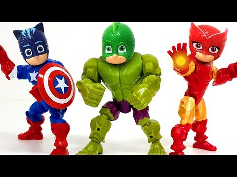 Topeng PJ berubah menjadi avengers! Kalahkan penjahat jahat ❤️ RACHAMAN TOY