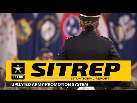 SITREP: Updated Army Promotion System