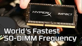 World's Fastest SO-DIMM Frequency HyperX Impact 2666MHz