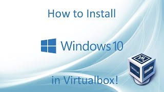 Windows 10 - Installation in Virtualbox